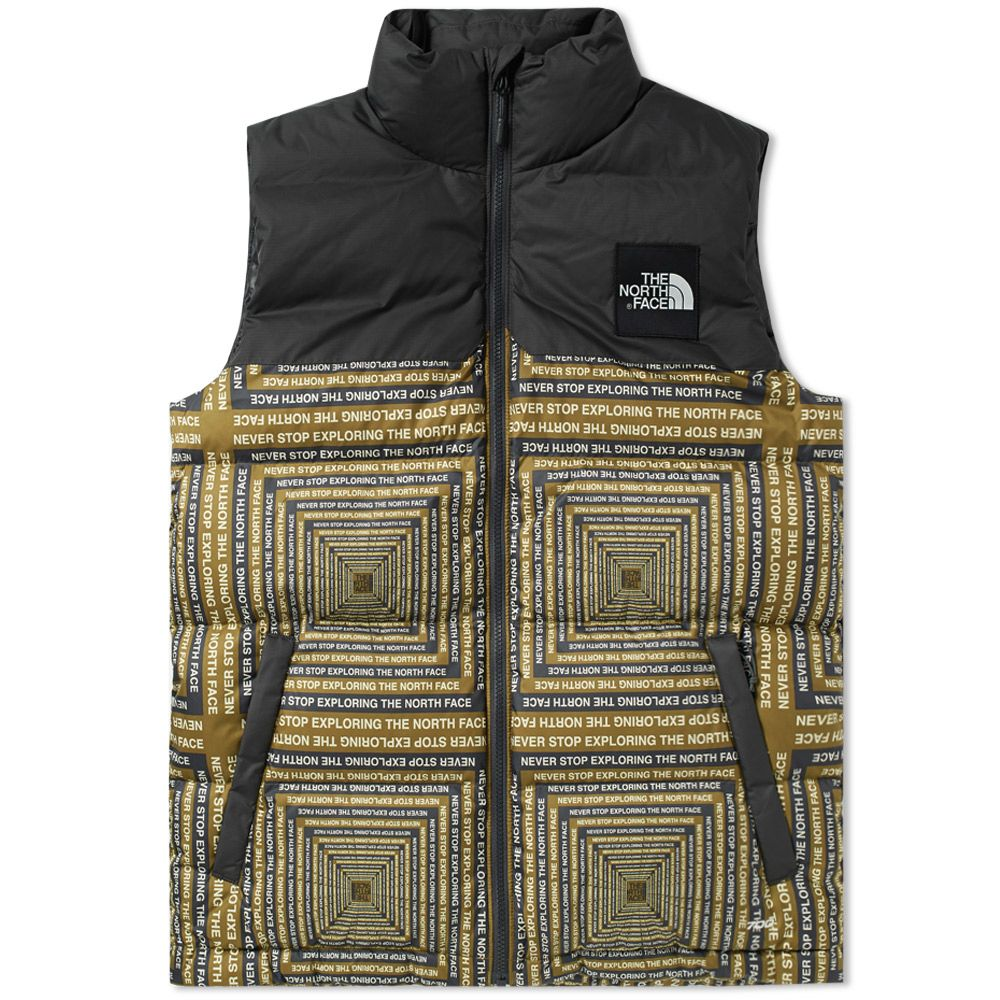 dac264f3c9 The North Face 1992 Nuptse Vest Fir Green   Caspule Print