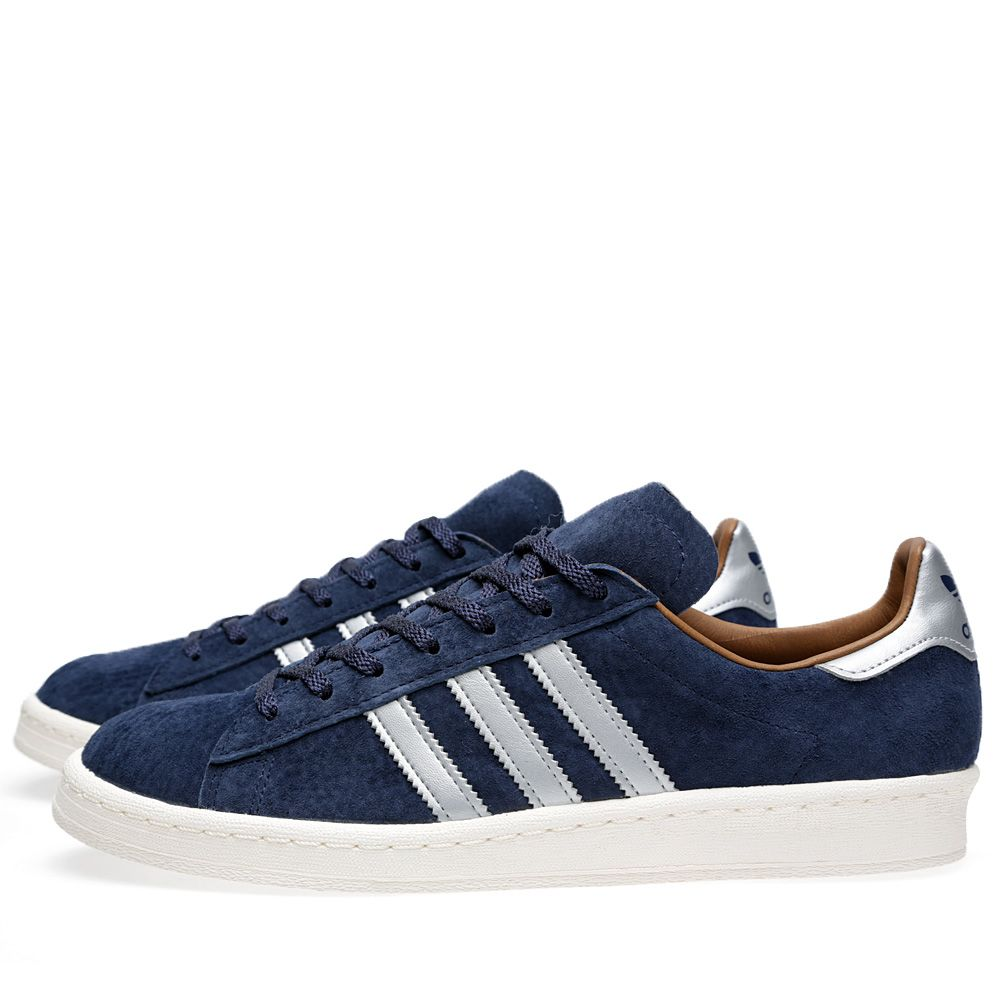 finest selection 6bed1 5e9a9 Adidas x Mita Campus 80s Navy  Metallic Silver  END.