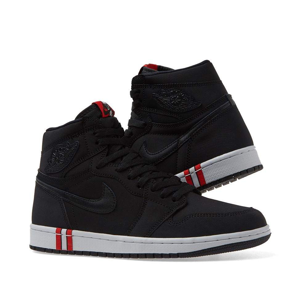 fb6c39952b8e Air Jordan 1 Retro Hi OG BCFC Black   Challenge Red