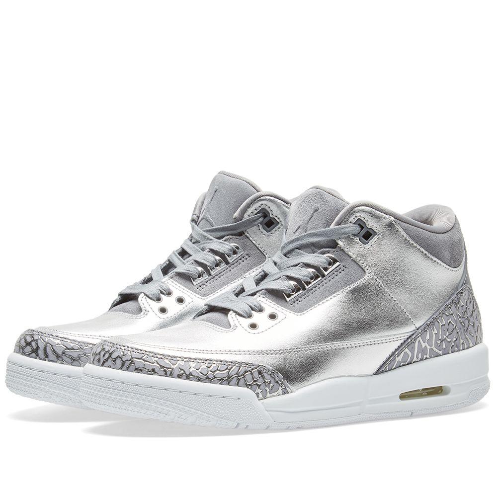 Nike Air Jordan 3 Retro Premium Heiress GS. Chrome 276ffb0a9