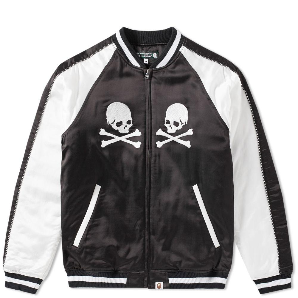 1c140b4b405 A Bathing Ape x Mastermind Japan Souvenir Jacket Black