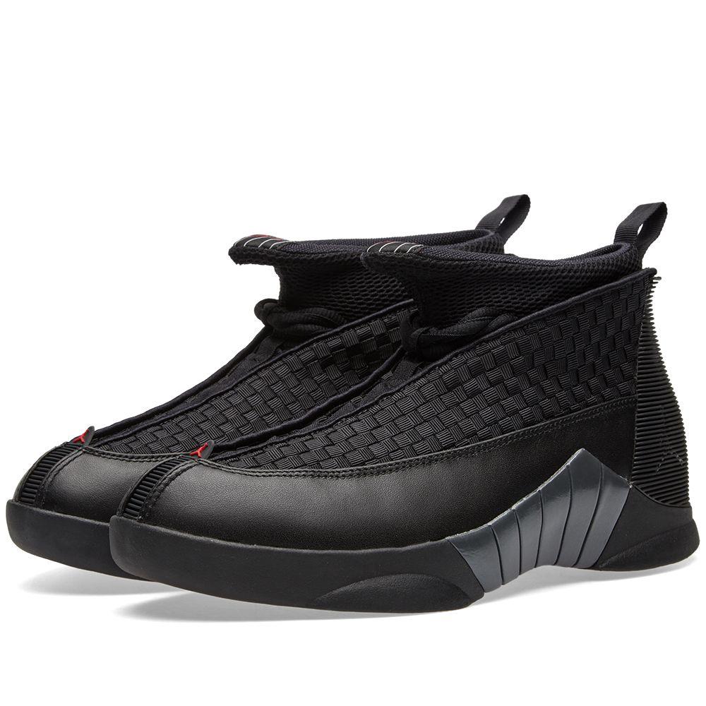 best sneakers 2e849 3367e Nike Air Jordan 15 Retro Black, Red   Anthracite   END.