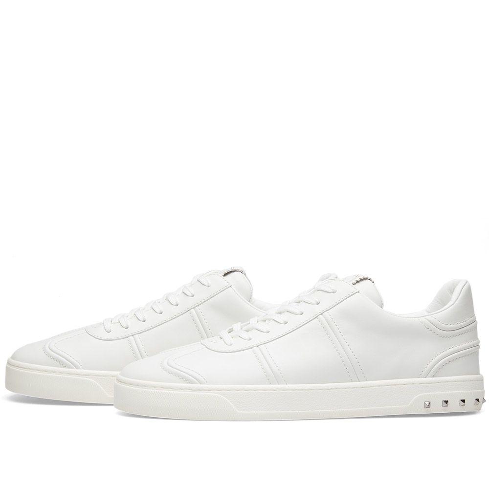 62b0d97e185e Valentino Fly Crew Leather Sneaker White