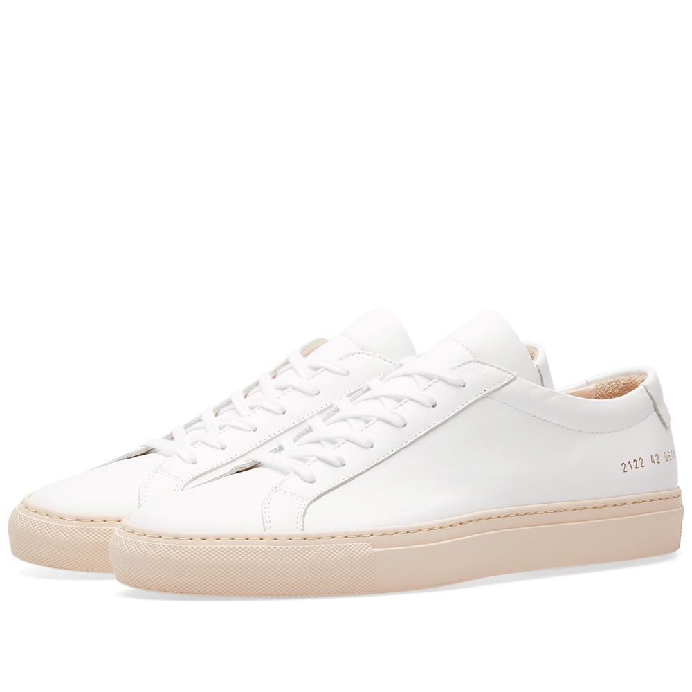 25ae7f6345463 Common Projects Achilles Low Coloured Sole White   Nude