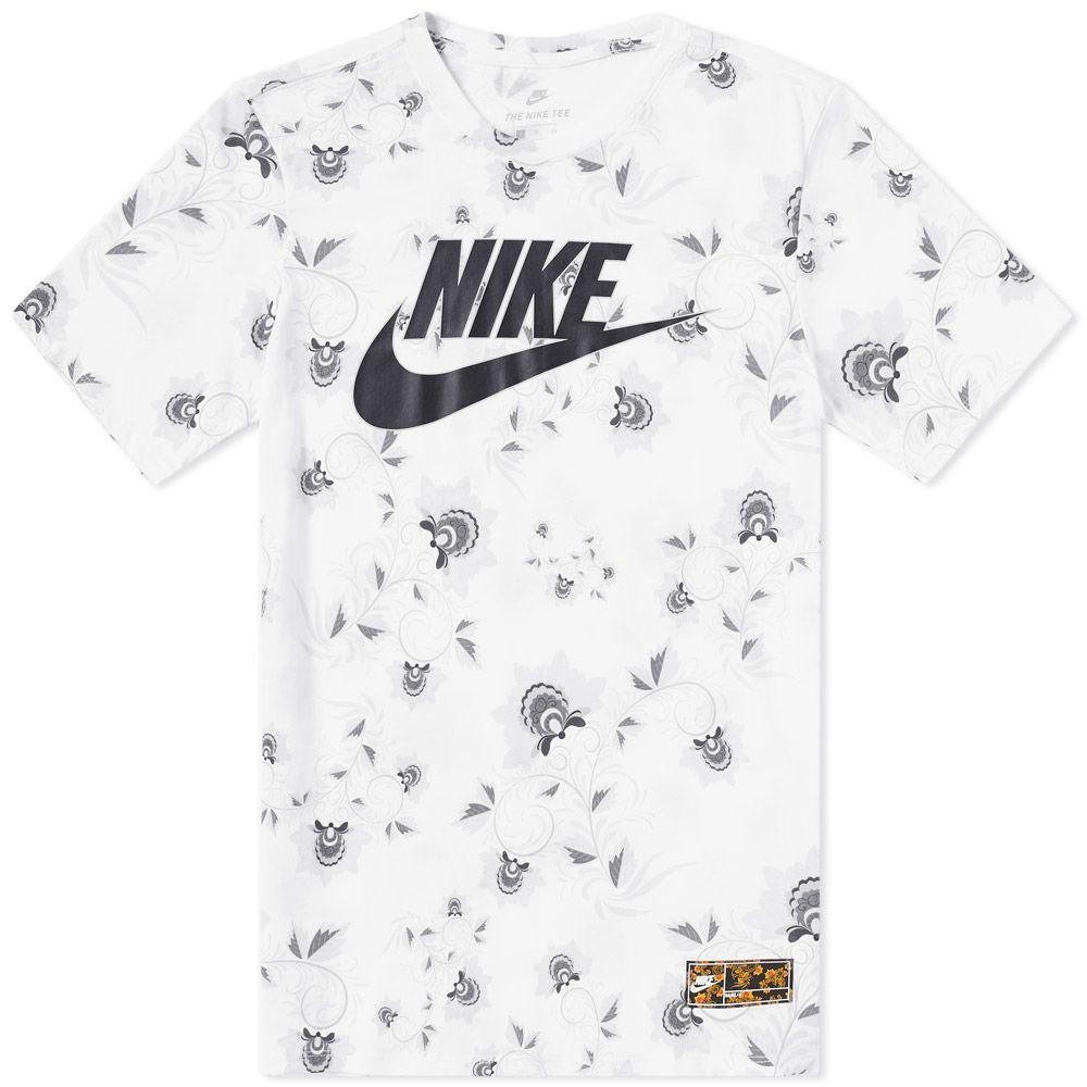 07203fa7 Nike Floral Tee White & Black | END.