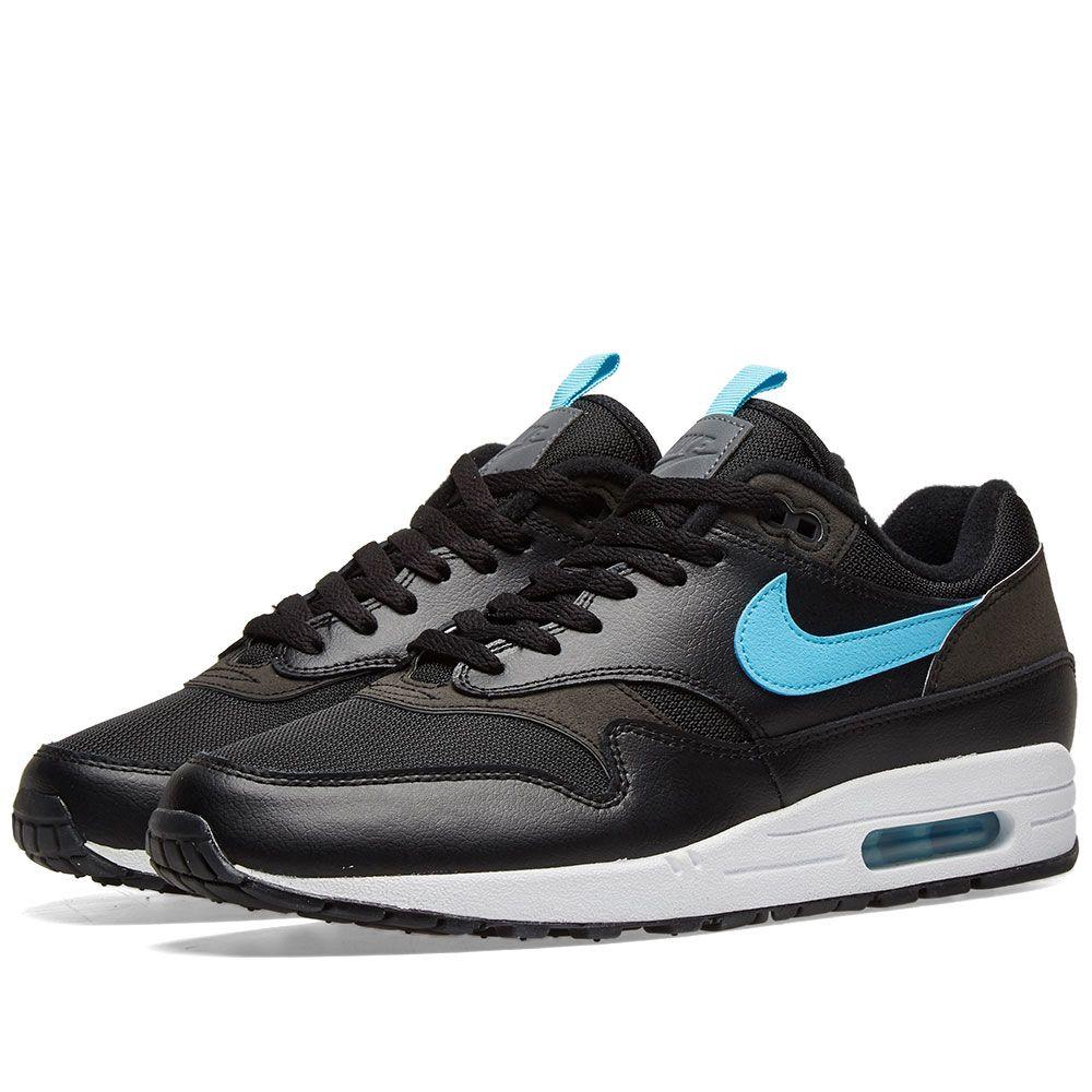 purchase cheap 8d936 40c02 Nike Air Max 1 SE Black   Blue Fury   END.