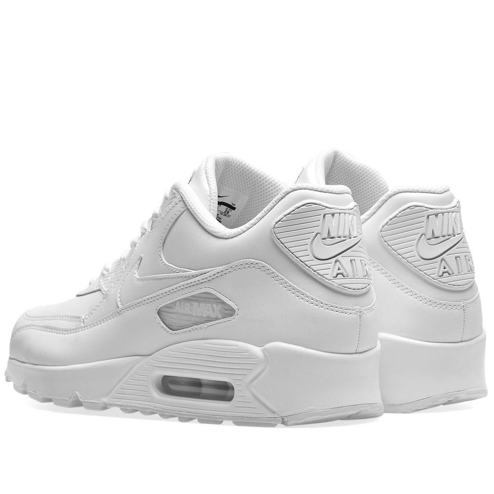 meet 882ba b5d64 Nike Air Max 90 Leather White  END.