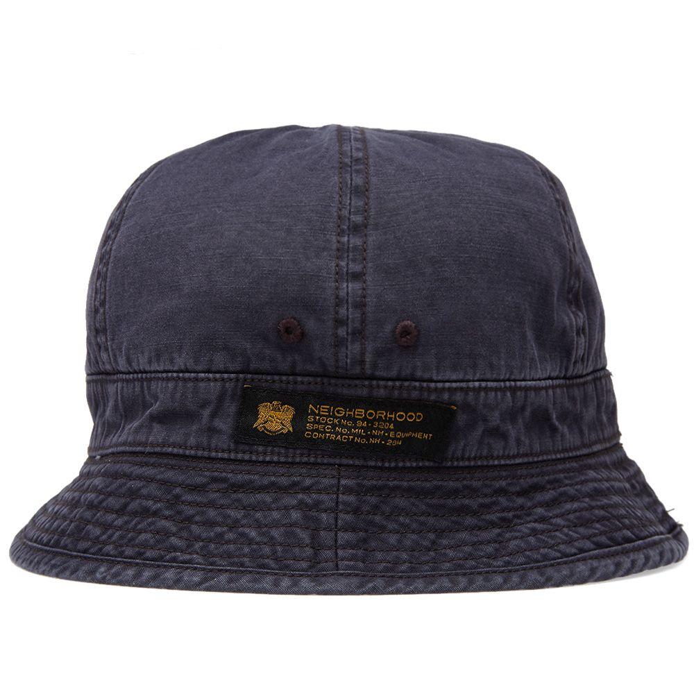 11e942b98ce8e6 ... czech neighborhood ball solid bucket hat navy end. 9d866 bc889