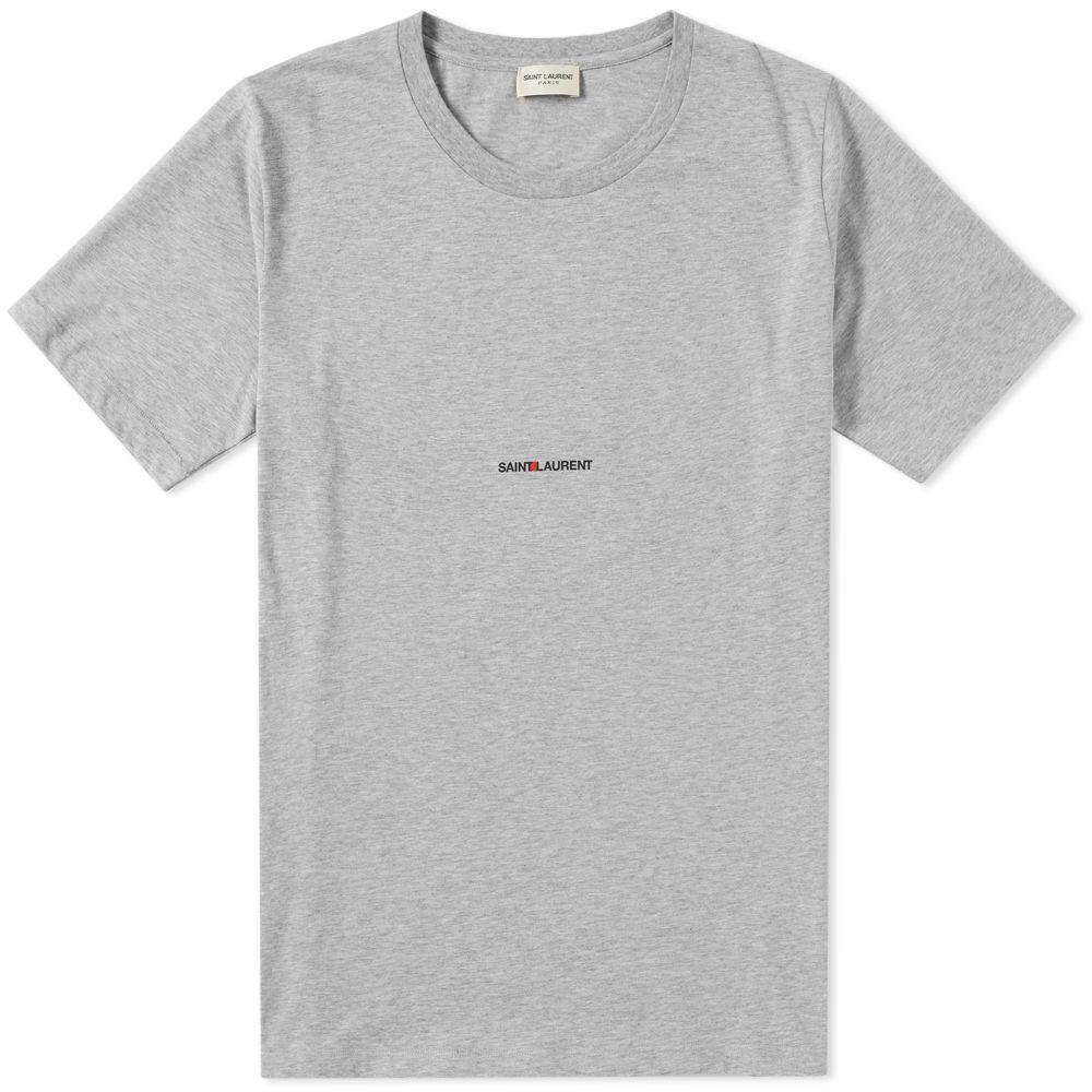 529affa5b4 Saint Laurent Archive Logo Tee Grey Chine