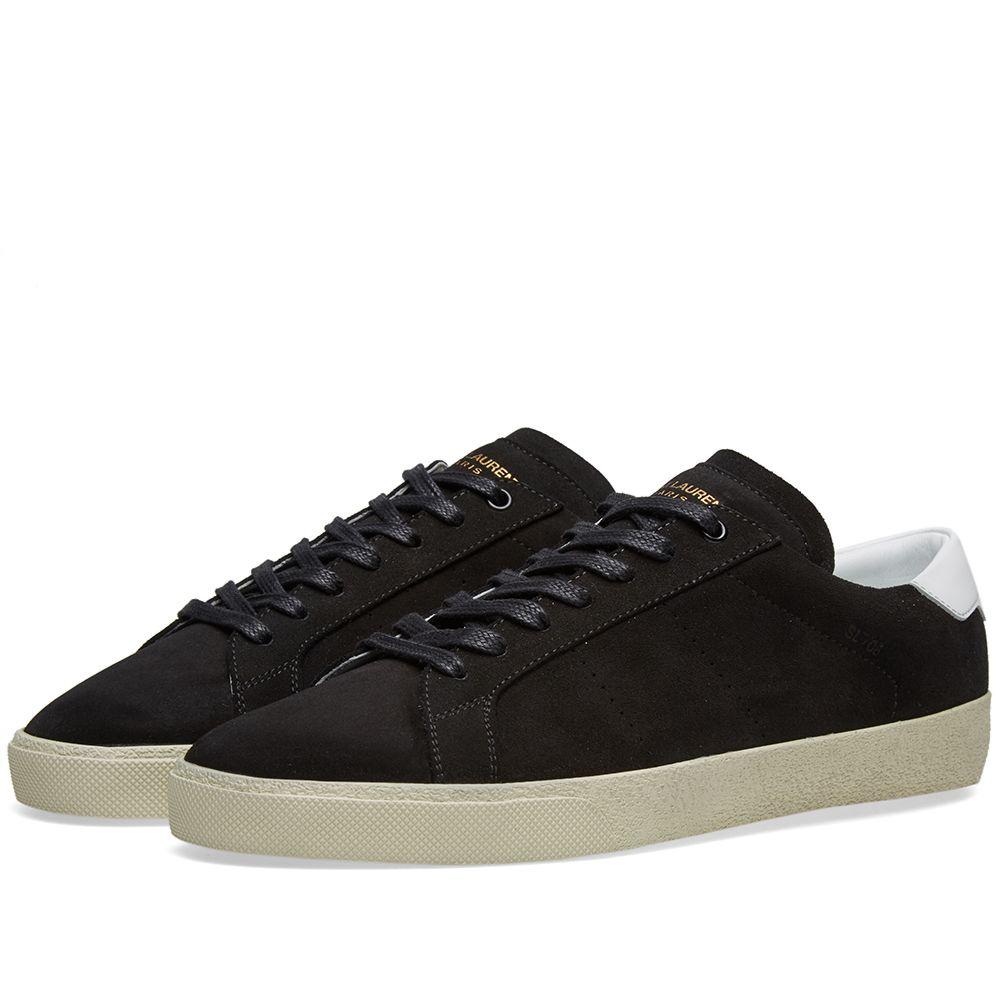 60387925cf1c Saint Laurent Court Classic Sneaker Black Suede