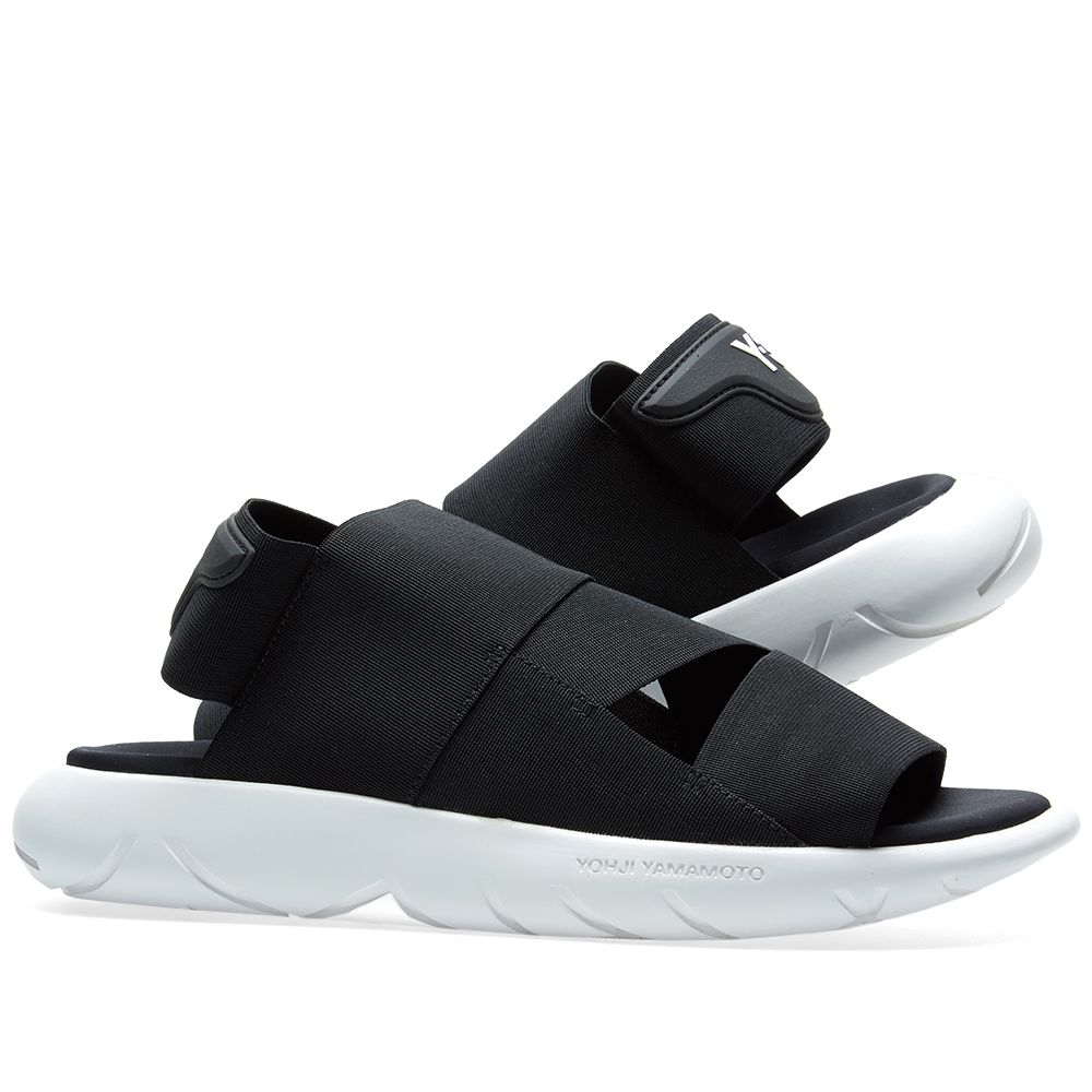 154214907b544 Y-3 Qasa Sandal Core Black   Crystal White