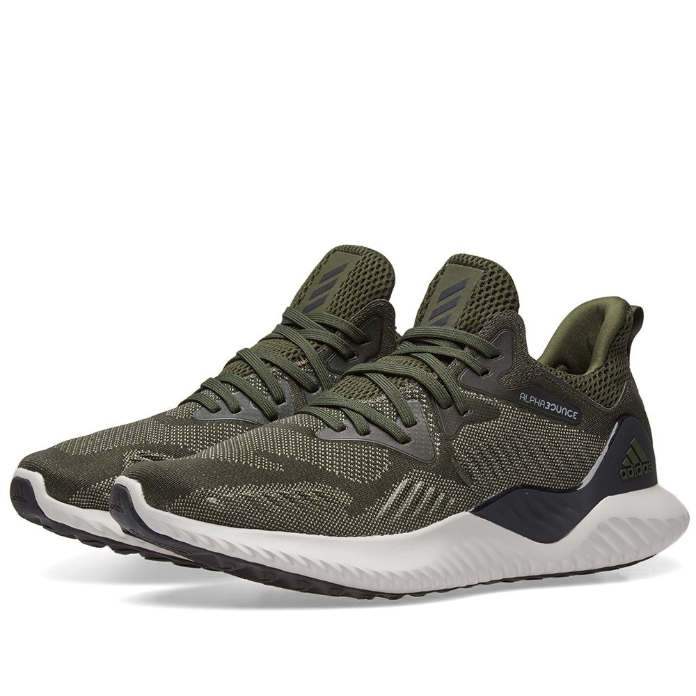 new arrival c9d0f 6784b Adidas Alphabounce Beyond Night Cargo, Black  Beige  END.