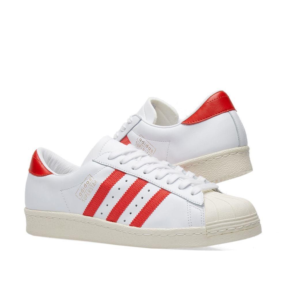 008262c91908 Adidas Superstar OG White   Red