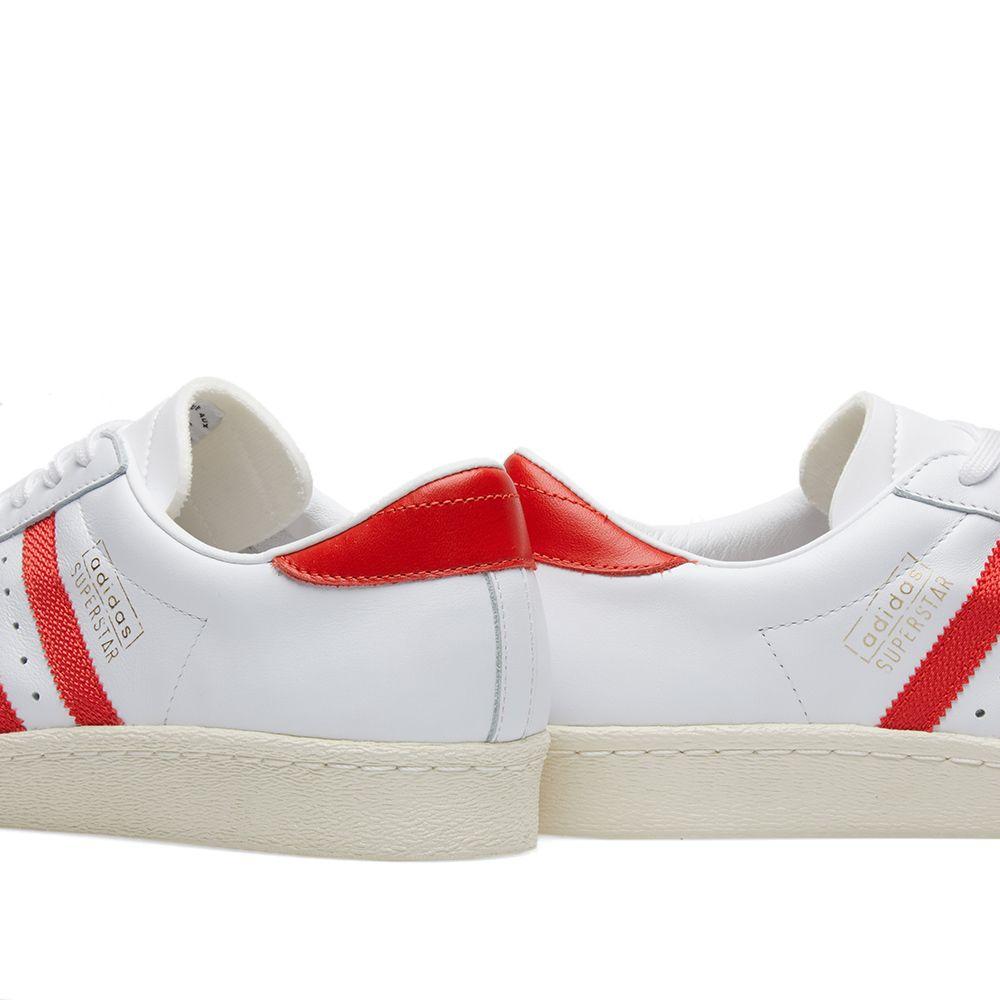 2991093e57b Adidas Superstar OG White   Red