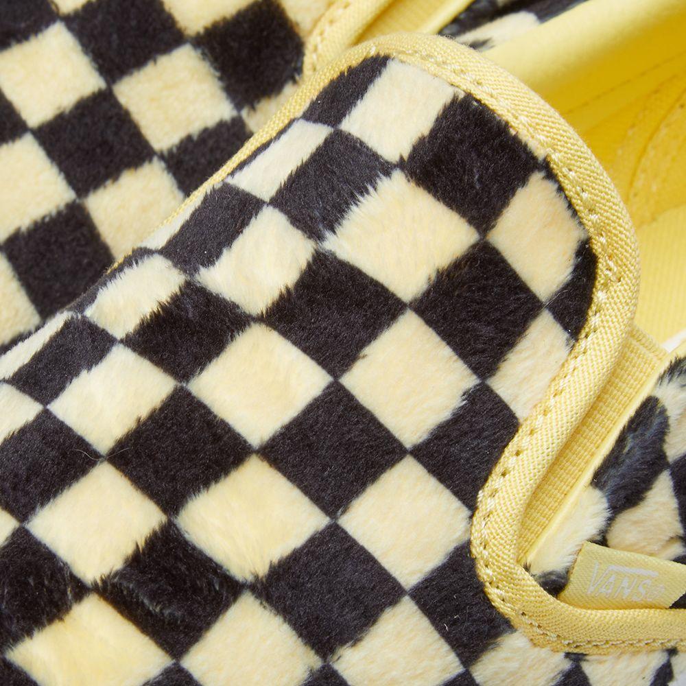 7674d19828 Vans Women s UA Classic Slip On Furry Checkerboard Sun   Black