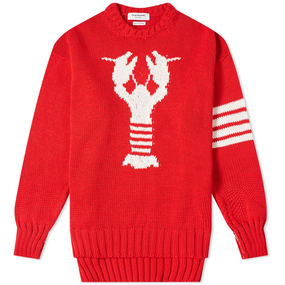 Thom Browne Lobster Intarsia Crew Knit by Thom Browne