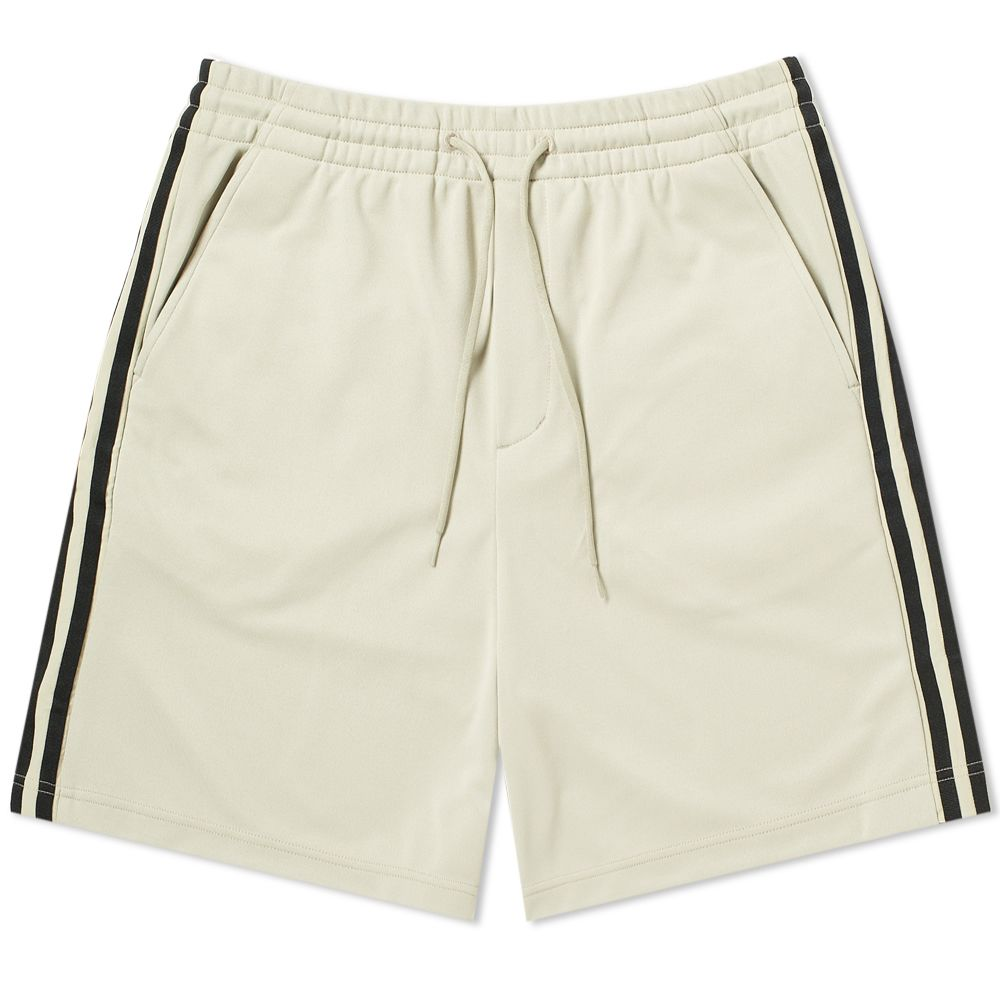 d583e83377826 Y-3 Three Stripe Lux Track Short Salty Champagne