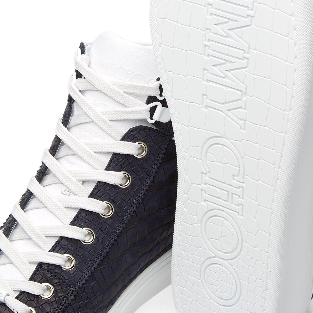 017a0038ff72 Jimmy Choo Argyle Sneaker Uniform Blue Croc