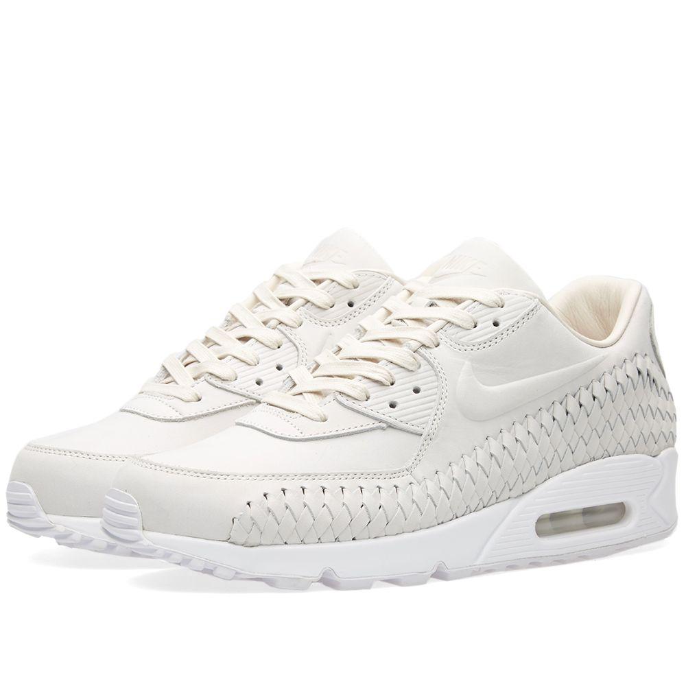 Nike Air Max 90 Woven Phantom   White  acd3949f3