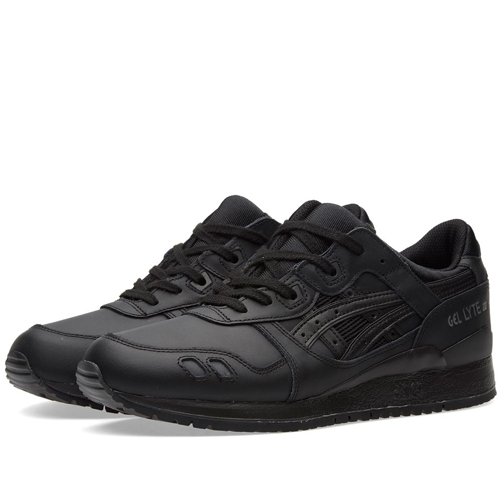 cd0f6a80ca04 Asics Gel Lyte III Triple Black Leather