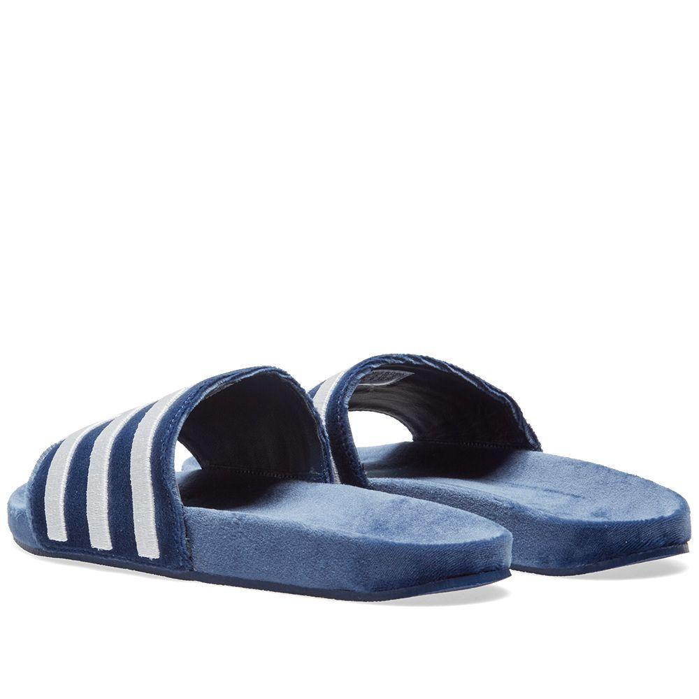 912357cf486163 Adidas Adilette Mystery Blue   White