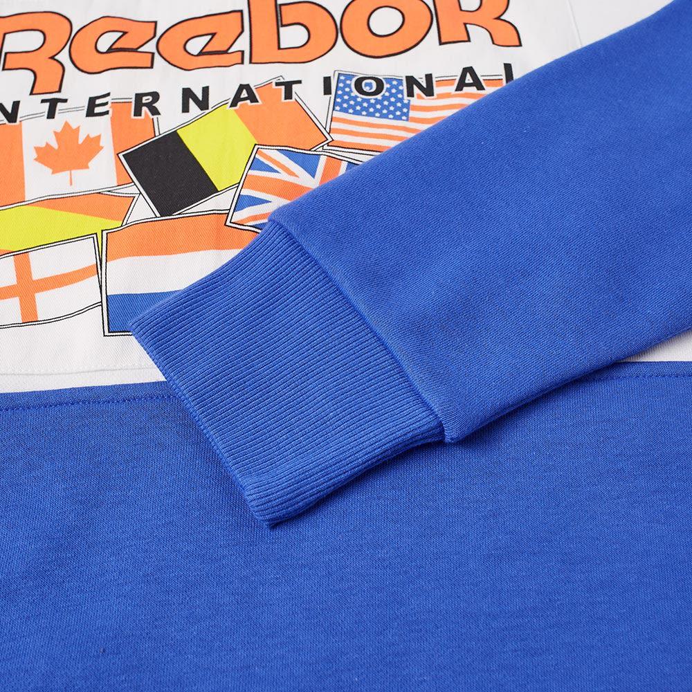 Reebok 1 4 Zip Flag Track Top Acid Blue  cf9410069020b