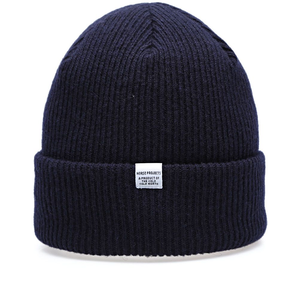 Norse Projects Beanie. Navy. £40 £29. image 91800b1cd1f