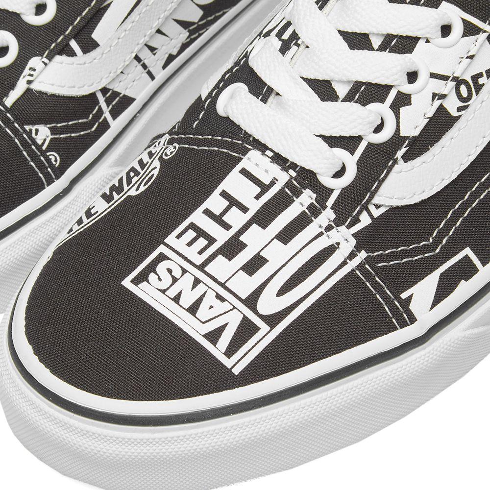 Vans Old Skool Retro Logo Black   True White  16bb2b2a5