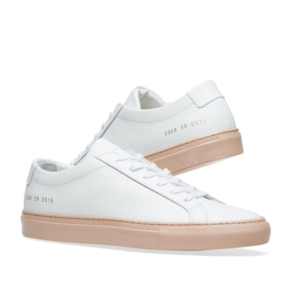 02ebd9b53955c Woman by Common Projects Achilles Low Coloured Shiny Sole White ...