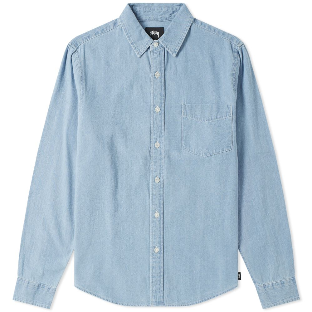 24b8f99b6d Stussy Berkeley Denim Shirt Light Blue