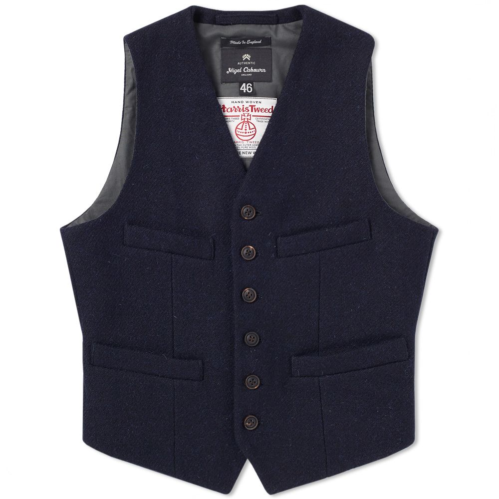 741500b2a862 Nigel Cabourn Authentic Short Vest New Navy