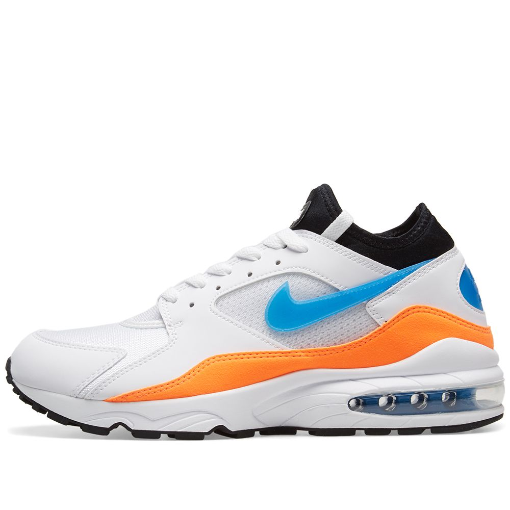 best service 7b0d1 8169e Nike Air Max 93 White, Blue Nebula  Orange  END.