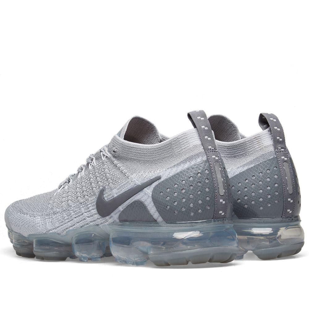 Nike Air VaporMax Flyknit 2 Wolf Grey   Pure Platinum  acde9de9d
