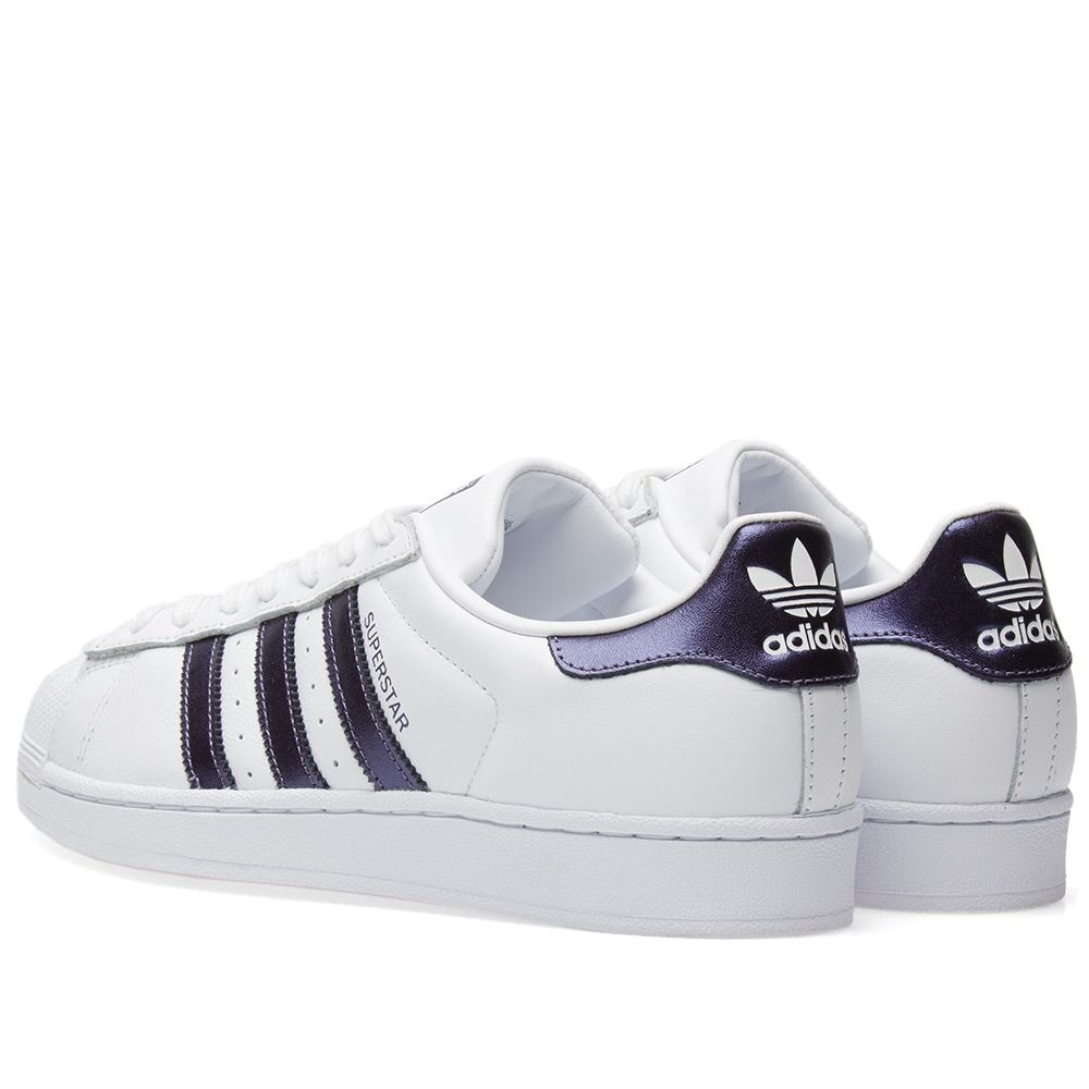 3f3b18fd0118 Adidas Superstar W White   Purple Night Metallic