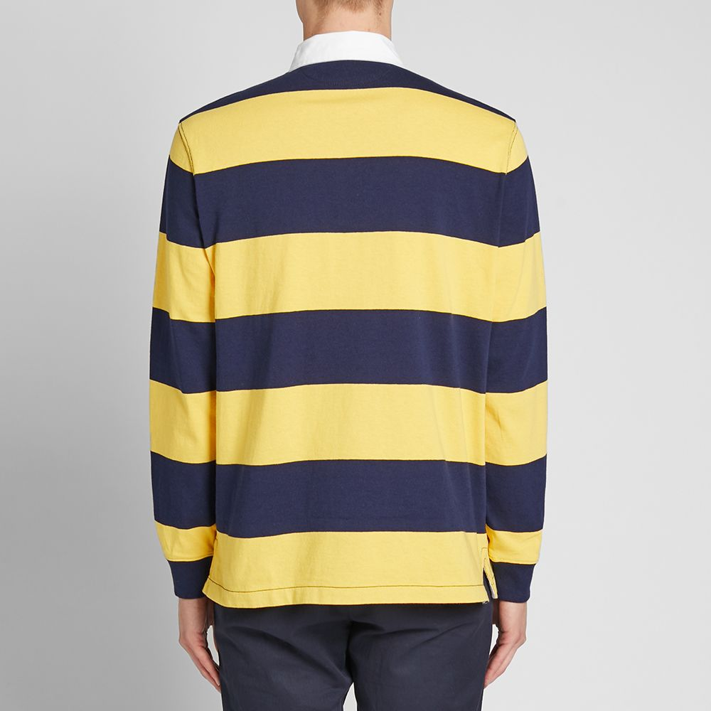 Polo Ralph Lauren Long Sleeve Striped Rugby Shirt. Chrome Yellow   Cruise  Navy. £125. image. image. image. image 2d9491f370c
