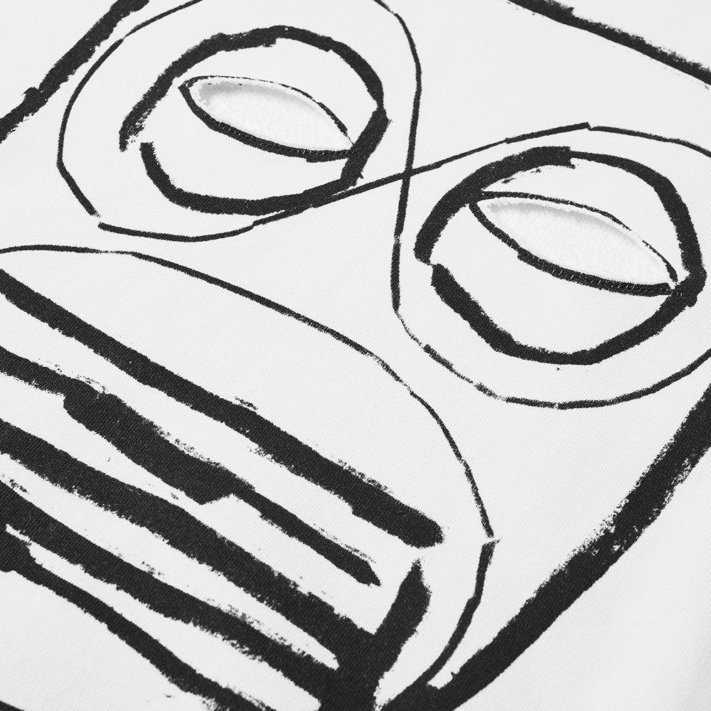 efbb93631670 Comme des Garcons SHIRT Cut Out Mask Crew Sweat White   Print O