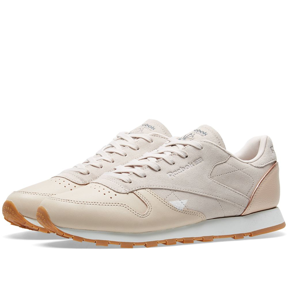 Reebok Women s Classic Leather  Golden Neutrals  Tan 95e80b923