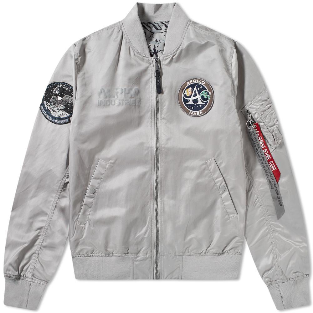 8f81609c8966 Alpha Industries MA-1 Moon Landing Reversible Jacket Silver