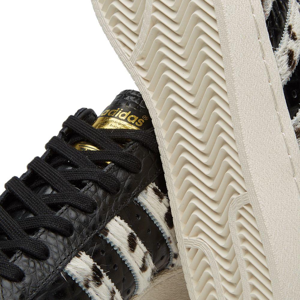 15e84eefcb3301 Adidas Superstar 80s Animal Black