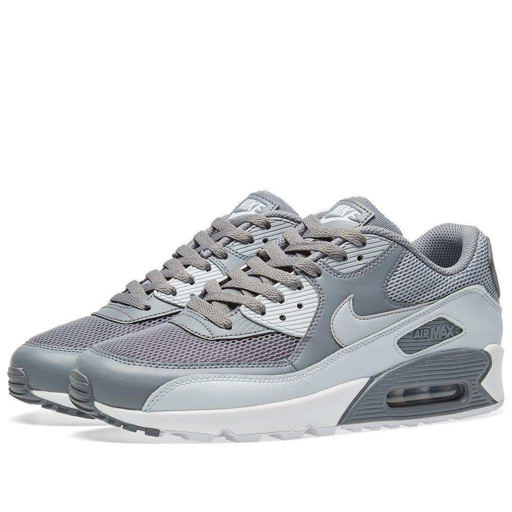 Nike Air Max 90 Essential. Cool Grey   Pure Platinum. £95 £59. Plus Free  Shipping. image 390fc75bd6a0e