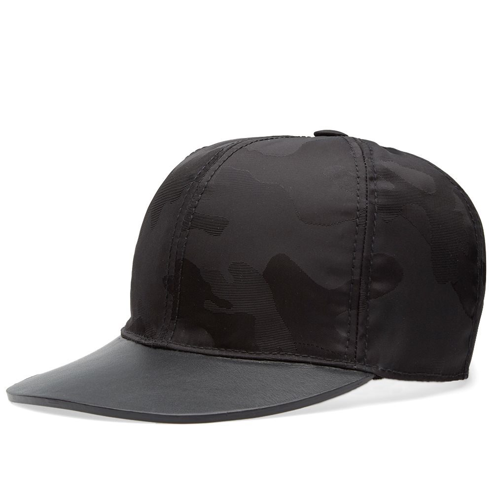 Valentino Leather   Nylon Baseball Cap Black  01e2292ce46