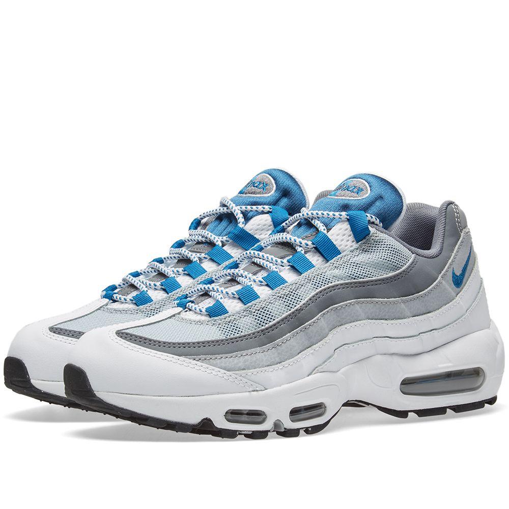 c0b158330a83 Nike Air Max 95 Essential White   Industrial Blue