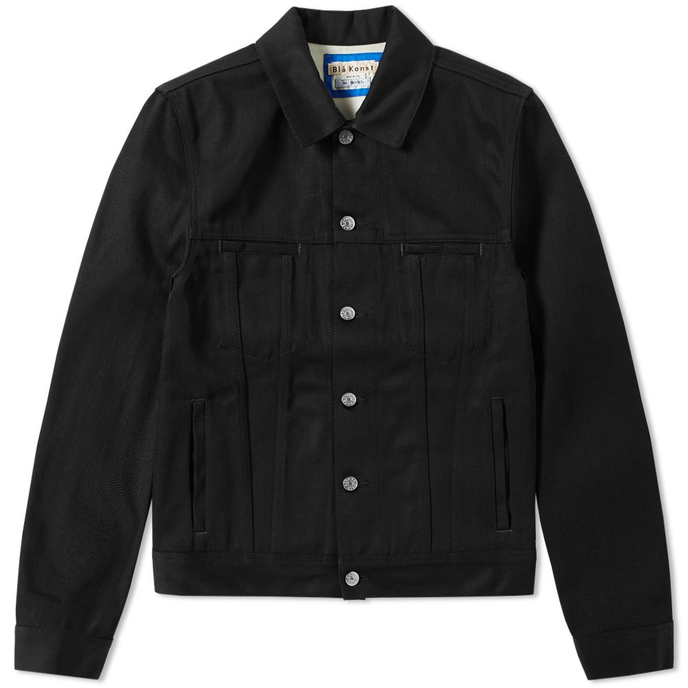 Acne Black Denim Jacket acne studios pass denim jacket black | end.