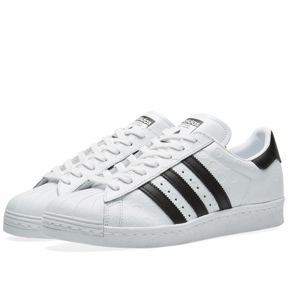 3e8e3fcd4c55 Adidas Superstar 80s W White   Core Black