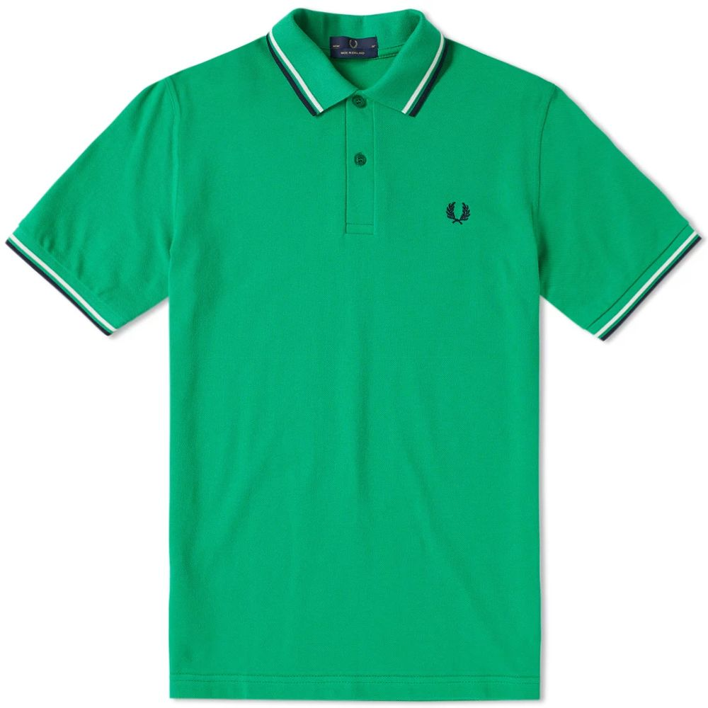 Fred Perry Reissues Original Twin Tipped Polo Island Green Snow