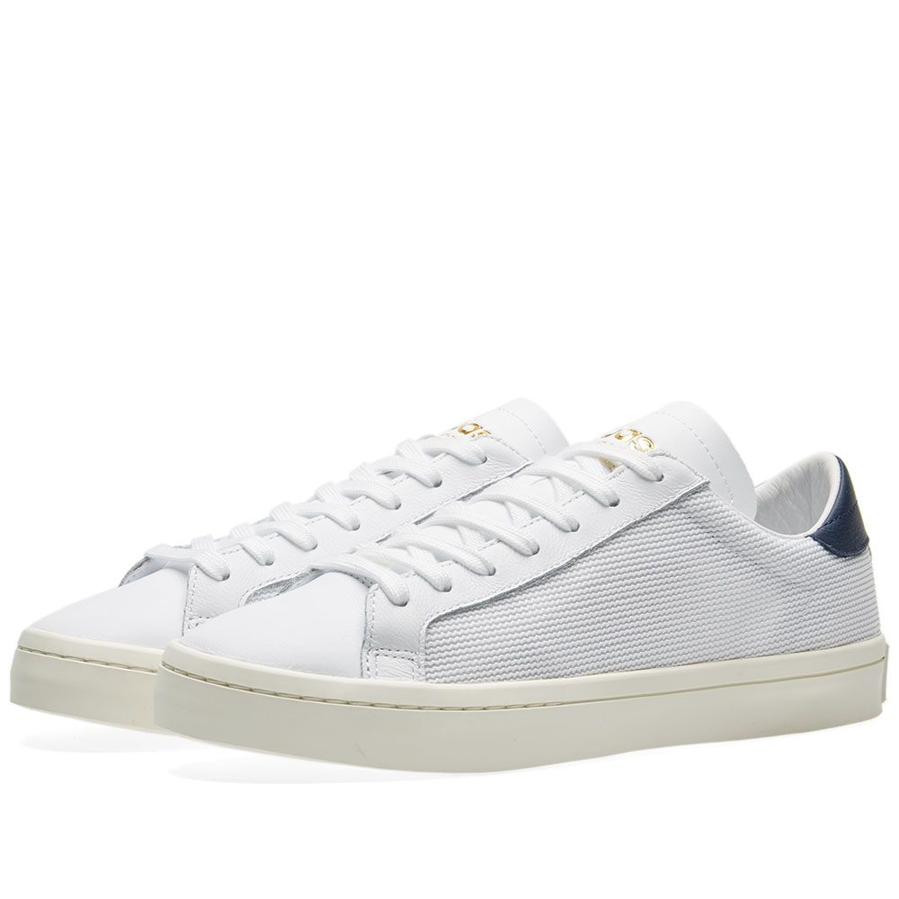c5bb623c4fd3 Adidas CourtVantage White   Collegiate Navy