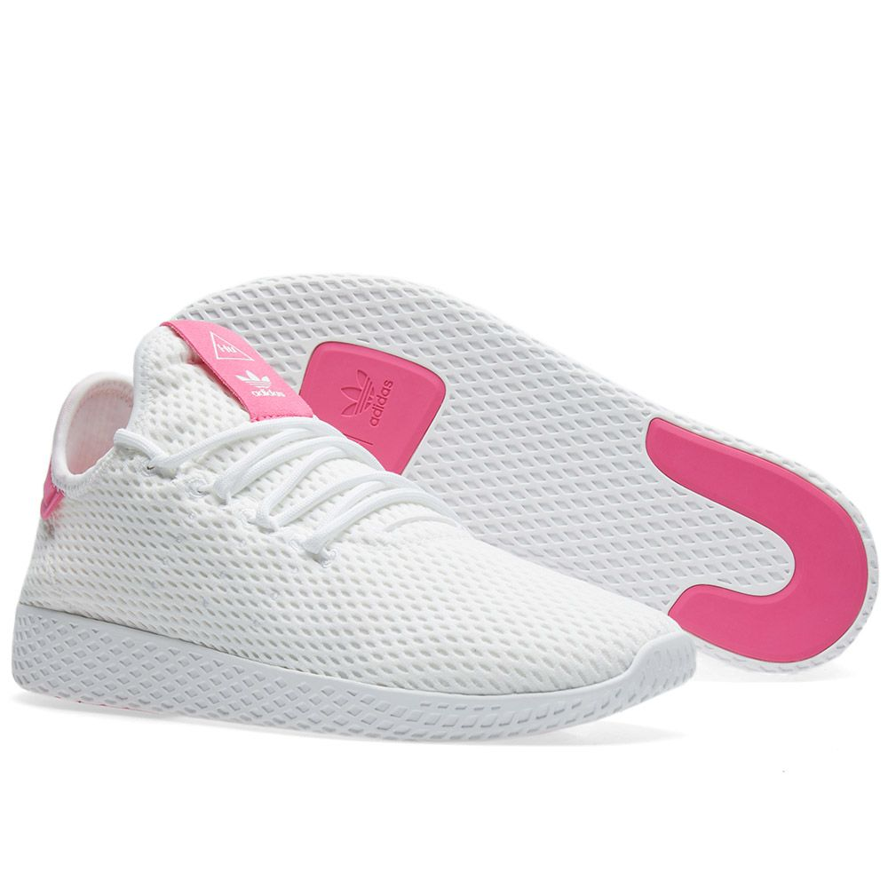 8af347be6f9 Adidas x Pharrell Williams Tennis HU White   Semi Solar Pink
