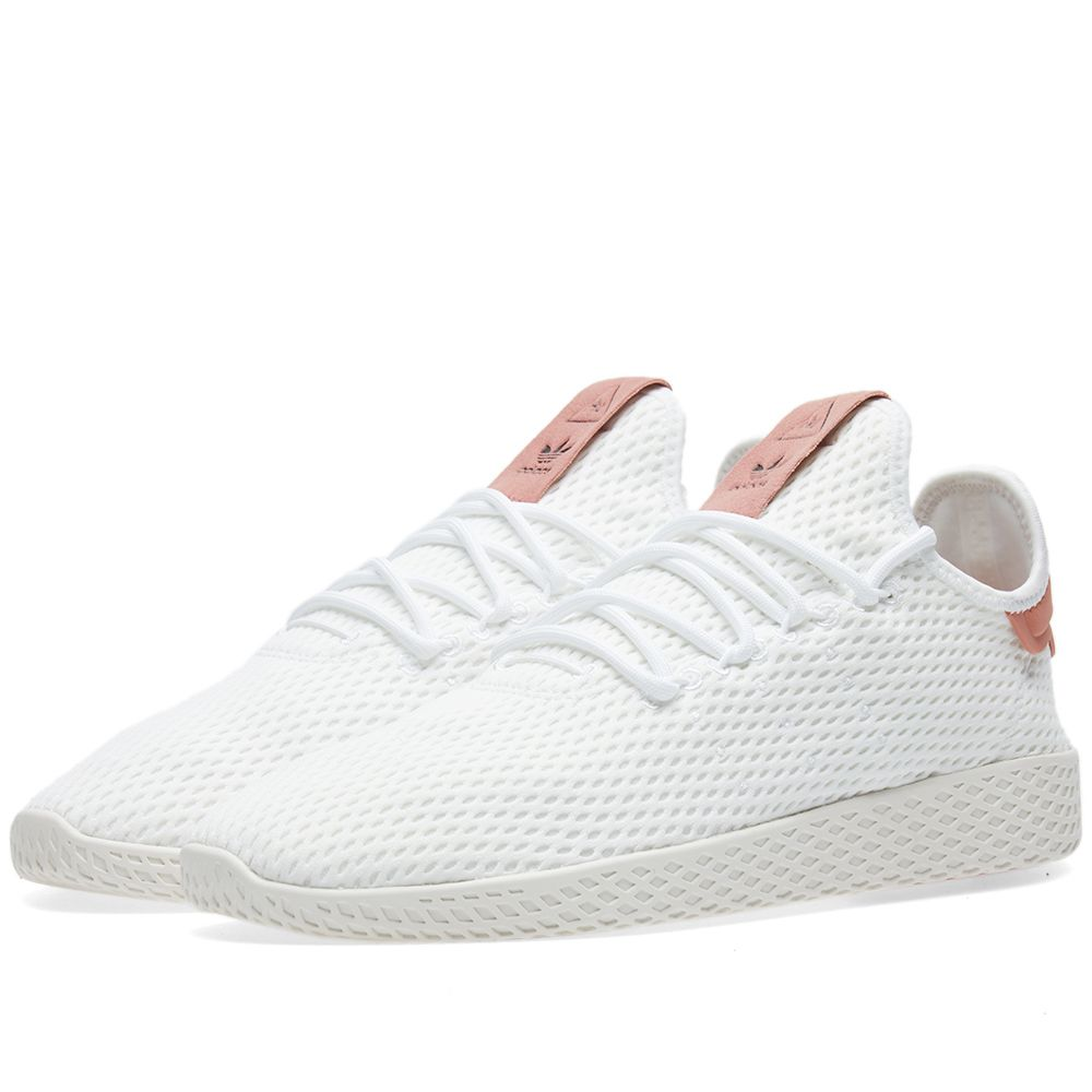 111b8ab029e2 Adidas x Pharrell Williams Tennis HU White   Raw Pink