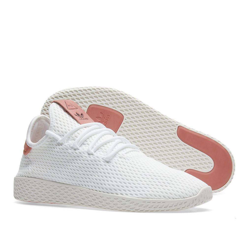 ed6de723e61e Adidas x Pharrell Williams Tennis HU White   Raw Pink