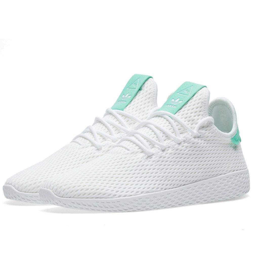 b28a12dd346 Adidas x Pharrell Williams Tennis HU White   Green Glow